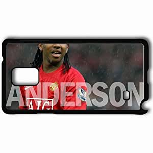 Personalized Samsung Note 4 Cell phone Case/Cover Skin 8 Manchester United Football Black