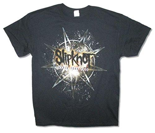 Slipknot Smashed 2015 World Tour Adult Black T Shirt (L)]()