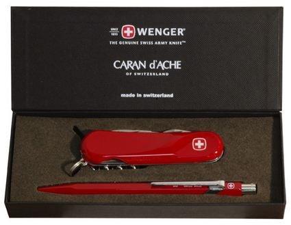 (Caran D'ache Swiss Gift Collection - Ballpoint Pen 849/Knife Duo Evolution Big Red)