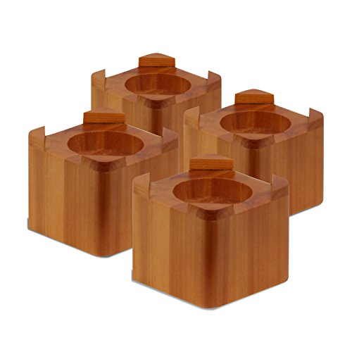 Honey-Can-Do STO-01150 Wood Bed Lifts, Maple Finish, 4-Pack