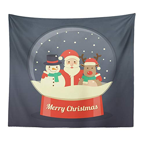 Claus Tapestry - Christmas Tapestry Wall Hanging Polyester Santa Claus 3D Printing Placemat Decorative Tapestries Throw Yoga Mat Blanket for Bedroom Living Room Decor, 59×51