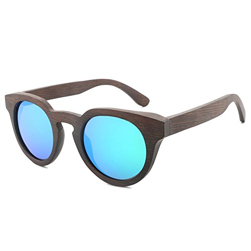 SYIWONG Mens Womens Bamboo Wood Frame Polarized - Narrow Long Face For Sunglasses