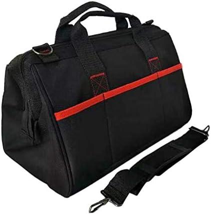 道具袋 工具収納袋 工具バッグ 大口収納 大容量 ブラック 耐久性