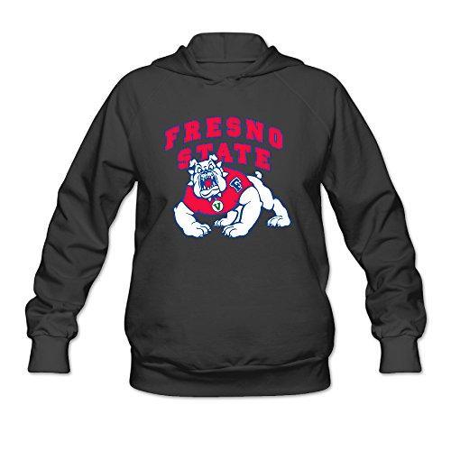 DVPHQ Women's Custom Fresno State Bulldogs Football Hoodie Size L Black