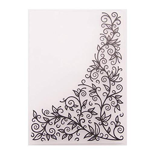 Welcome to Joyful Home 1PC New Frame Background Embossing Folder for Card Making Floral DIY Plastic Scrapbooking Photo Album Card Paper DIY Craft Decoration Template Mold