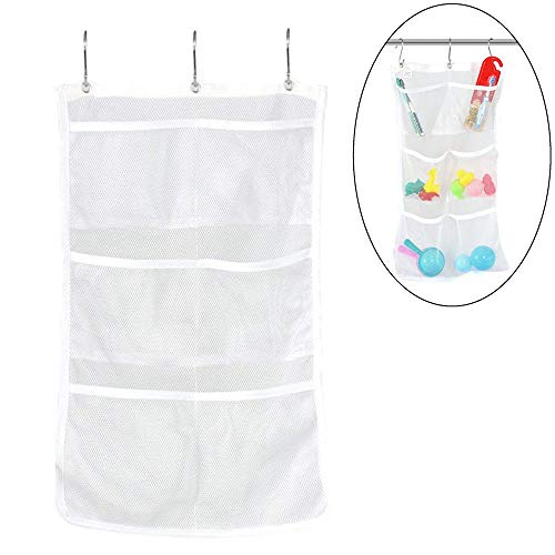 Bathroom Tub Shower Bath Hanging Mesh Organizer Caddy Storage Bag -
