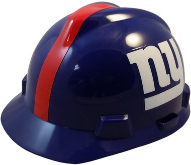 MSA NFL Team Safety Helmets with One-Touch Adjustable Suspension and Hard Hat Tote - New York - Hat Nfl Team