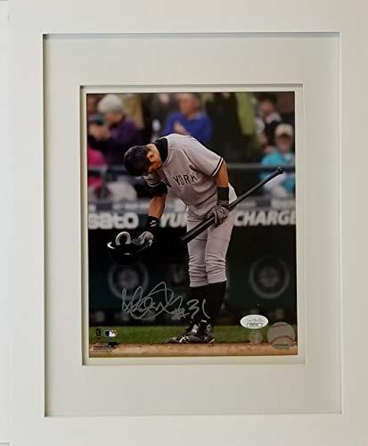 (Ichiro Suzuki Signed Yankees 8x10 Photo Framed to 13x16 JSA COA #CC80764 )