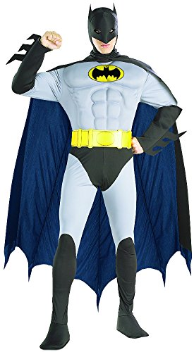 Deluxe Adult Batman Costumes Muscle Chest (Deluxe Muscle Chest Batman Adult Costume - Small)