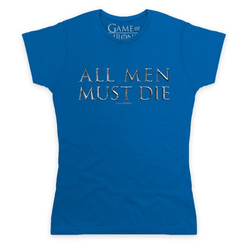 Official Game of Thrones - All Men Must Die Camiseta, Para mujer Azul real