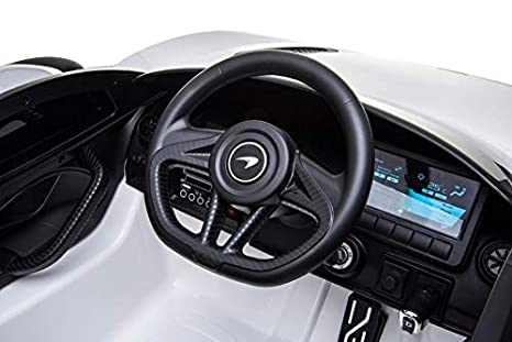 silex Voiture /électrique 12V pour Enfant McLaren 720S Cristom/® Blanc Blanc