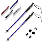 BAGAIL trekking Poles Anti Shock Adjustable Hiking Walking All-around Trail Poles with EVA Foam Handle