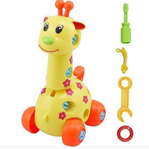 Toy Model - Disassembly Cartoon Animal Design Educational Toys Horse Penguin Tortoise Elephant Giraffe Model - Truck Guns Supplies Planes Fire Dirt S500 Rocket Harley Diecast Engine Ships Stand ()