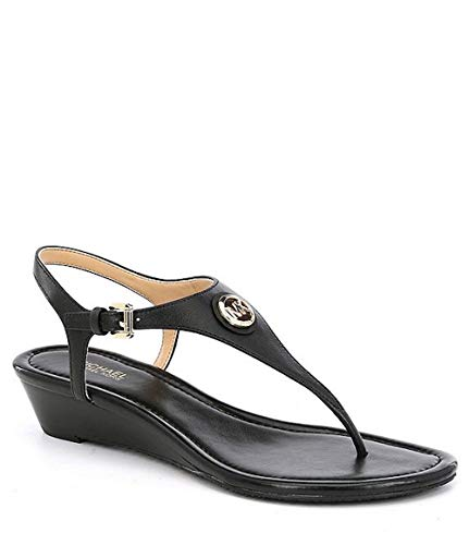 (Michael Michael Kors Womens Ramona Leather Open Toe Casual, Black, Size)