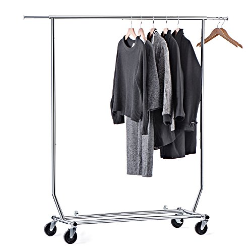 House Day Portable Clothes Rack, Portable Closet, Rolling Clothes Rack, Foldable Clothes Stand Commercial Grade for Professional Use