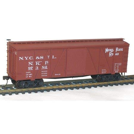 - Accurail 1153 HO Scale 36' Fowler Wood Boxcar Nickel Plate