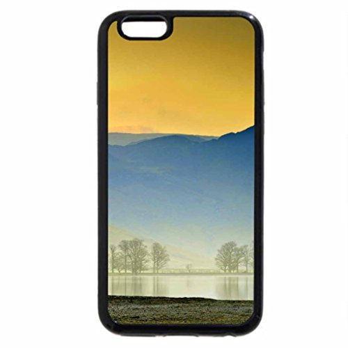 iPhone 6S / iPhone 6 Case (Black) LAKE HOUSE in the MIST