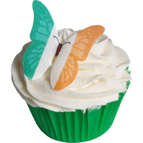 24 Edible Pre-cut Wafer Butterfly Cake Toppers: Ireland