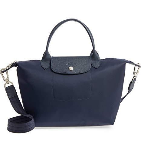 Longchamp 'Le Pliage Neo' Nylon Top Handle Tote Shoulder Bag, Navy (Longchamp Tote Navy)