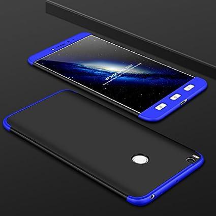 Ququcheng Funda Xiaomi Mi MAX 2,Carcasa Xiaomi Mi MAX 2[con Protector de Pantalla] 3 en 1 Desmontable 360°Protection Case Ultra-Delgado Cover Caso La ...