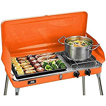 Amazon Com Portable 2 Burner Grill Stove Camp Propane