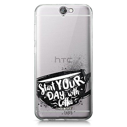 CASEiLIKE Funda HTC U Ultra , Carcasa HTC U Ultra, Flores florecientes turquesa 2249, TPU Gel silicone protectora cover Citar 2402