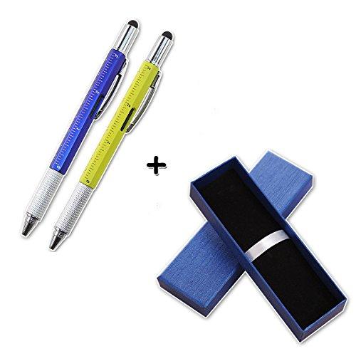 Pen Dad (Set of 2 Pcs 6-in-1 Tech Tool Ballpoint Pen, Multi-functional Tool Pen,Gift for Dad)