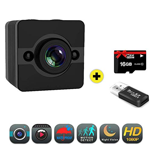 Mini Hidden Spy Camera Full HD 1080P Cam Waterproof with Night Vision and Motion Detective Security Cameras for Home Car Drone Office Outdoor
