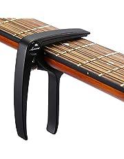 Asmuse Kapodaster för gitarr västerländsk gitarr akustisk klassisk gitarr folkgitarr ukelele elbas instrument gitarr Capo med 3 gitarrplektrum