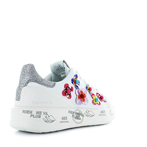 Les Femmes Premiata Belle3008 Chaussures De Sport En Cuir Blanc