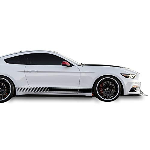 (Bubbles Designs Decal Sticker Vinyl Side Racing Stripes Compatible with Ford Mustang 2015-2017)