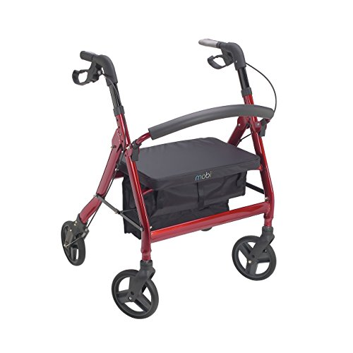 (Juvo Heavy-Duty Premium Bariatric Rollator with 400-Pound Capacity and Comfortable 22