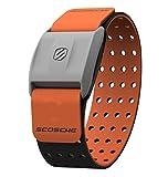 Scosche Rhythm+ Heart Rate Monitor Armband - Orange - Optical Heart Rate Armband Monitor with Dual Band Radio ANT+ and Bluetooth Smart