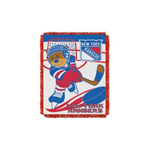 The Northwest Company Officially Licensed NHL New York Rangers Score Woven Jacquard Baby Throw Blanket, 36