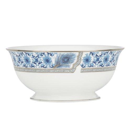Lenox Marchesa Couture Serving Bowl, Sapphire Plume