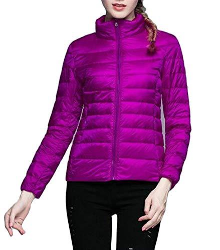 TTYLLMAO Down Down Ultra Jacket Women's Packable Puffer Lightweight Purple Jacket CCUqO