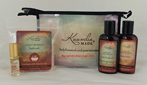 Kuumba Made Four (4) Treasures Collection Gift Set (Lily of the Valley)