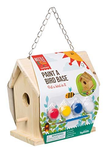 Toysmith Beetle & Bee Paint A Bird Base, Backyard Birdhouse Kit with Fsc Certified Wood - DIY Arts & Crafts Gardening for Kids & Teens, Boys & Girls