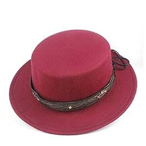 2019 Mens Womens Hats Unisex Men Women Flat Top Hat Autumn Pop Church Travel Hat Fascinator Wool Polyester Casual Wild Hat Adjustable Fedora Flat Top Hat Size 56-58CM