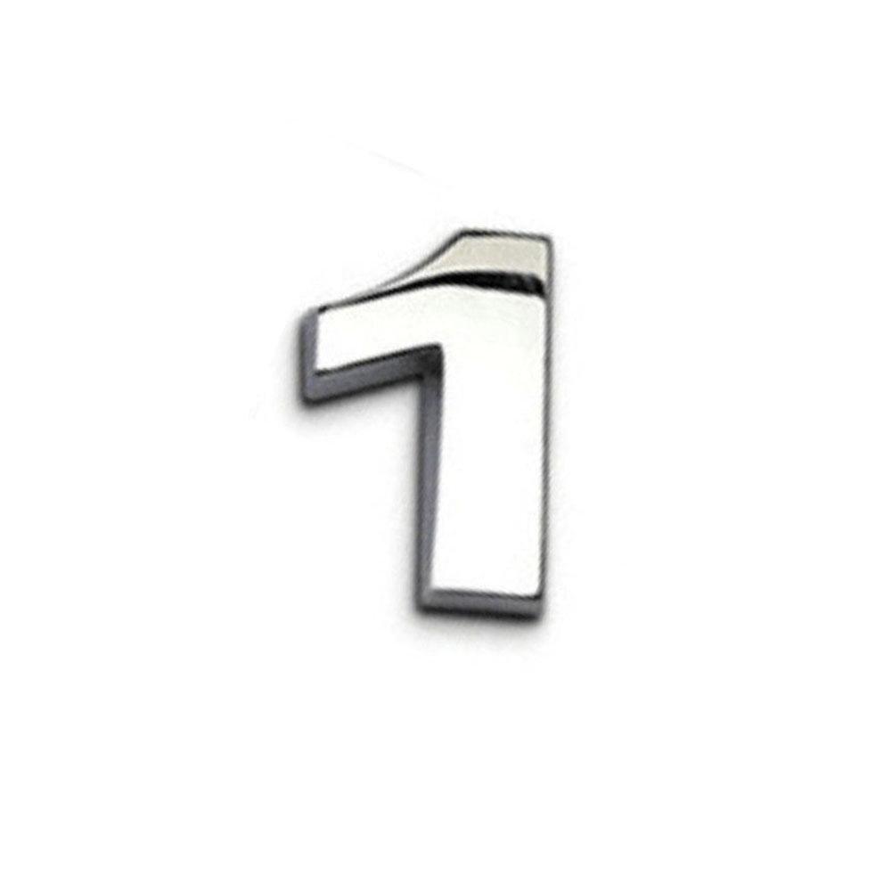 A-Z/&0-9 TR.OD DIY 3D Metallic Alphabet Sticker Car Emblem Letter Silver Badge Decal S