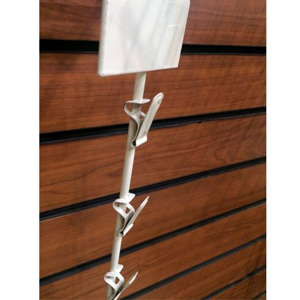 New Retail Hanging Merchandise Clipping Display with Scan Plate 12 Clips White