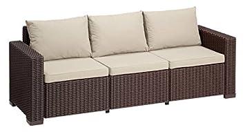 Allibert Lounge Sofa California 3 Sitzer Braunpanama Taupe Amazon