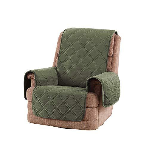 SureFit Triple Protection Recliner, Furniture Cover, Olive
