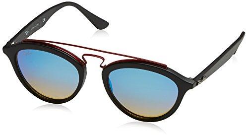 Ray-Ban Women's Injected Woman Non-Polarized Iridium Round Sunglasses, Matte Black, 50 - Mirror Prescription Finish Sunglasses