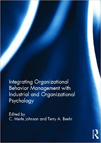 Pdf download industrial and organizational psychology research and pr….