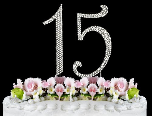 - Rhinestone Cake Topper Number 15 by other