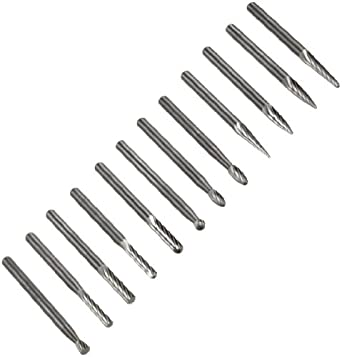 "PFERD 8 Piece Aluminum/Aluminum(Double) Plus Cut Bur Set # 3 With 1/4"" Shank"