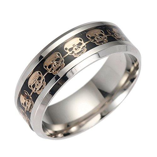 Lightning Deals Rings,ZYooh Creative Fashion Rhinestone Finger Knuckle Skull Ring Engagement Wedding Band Ring