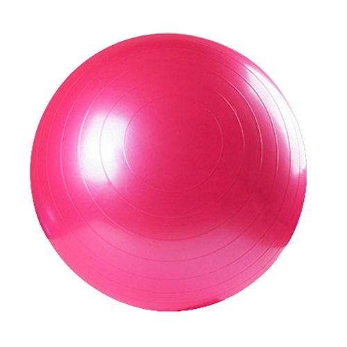 Yoga Fitness Ball Anti-Burst and Slip Resistant Ball with Pump (pink, M: Diameter:55cm/21.6