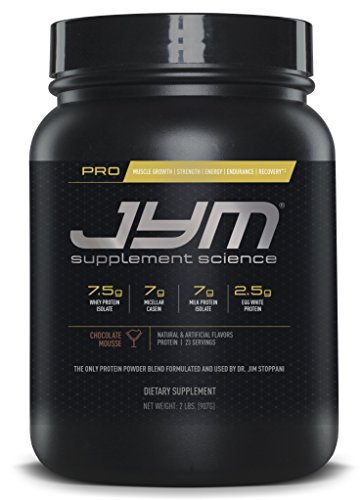 Pro JYM Protein Powder - Egg White, Milk, Whey Protein Isolates & Micellar Casein | JYM Supplement Science | Chocolate Mousse Flavor, 2 lb